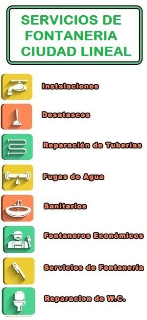 servicios de fontaneria en Ciudad Lineal