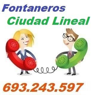 Telefono de la empresa fontaneros Ciudad Lineal